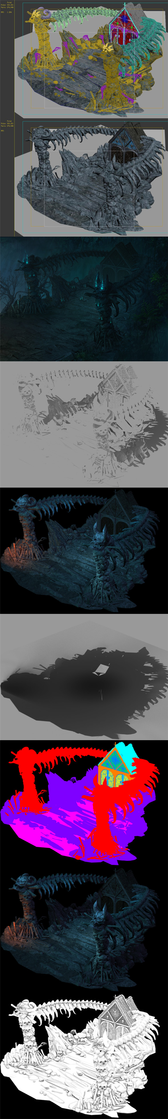 Nibelungen - skeleton of the spine - 3DOcean Item for Sale