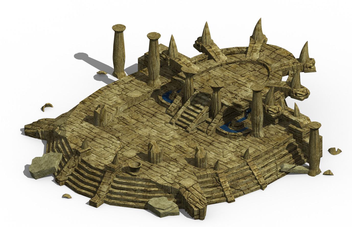 Ancient ruins - altar