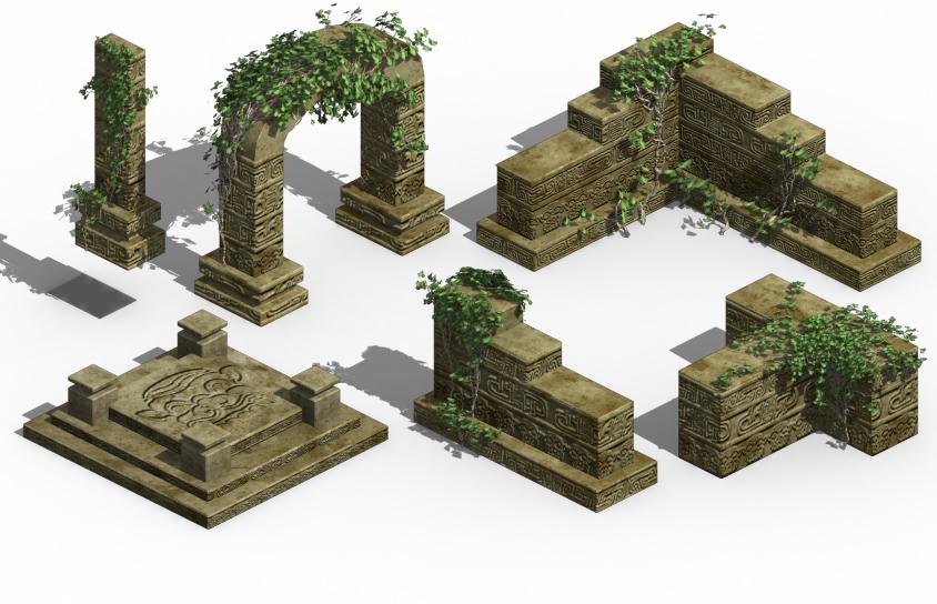 Ancient ruins - altar accessories 02