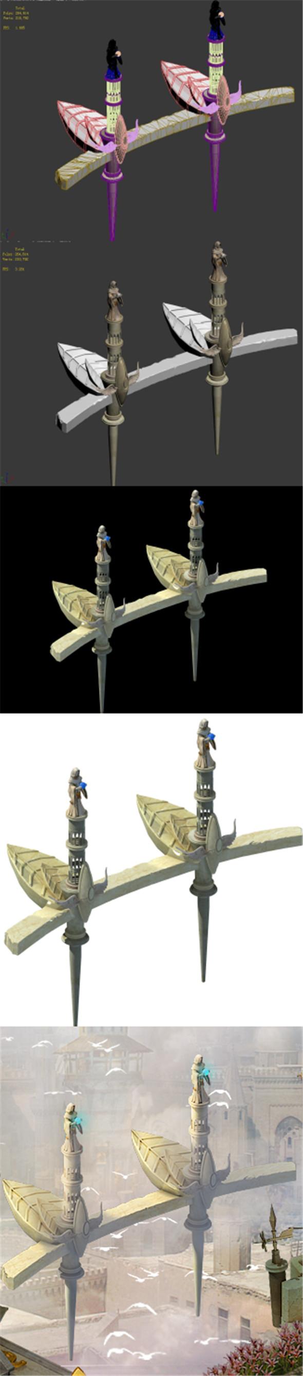 God of the country - floating platform - 3DOcean Item for Sale