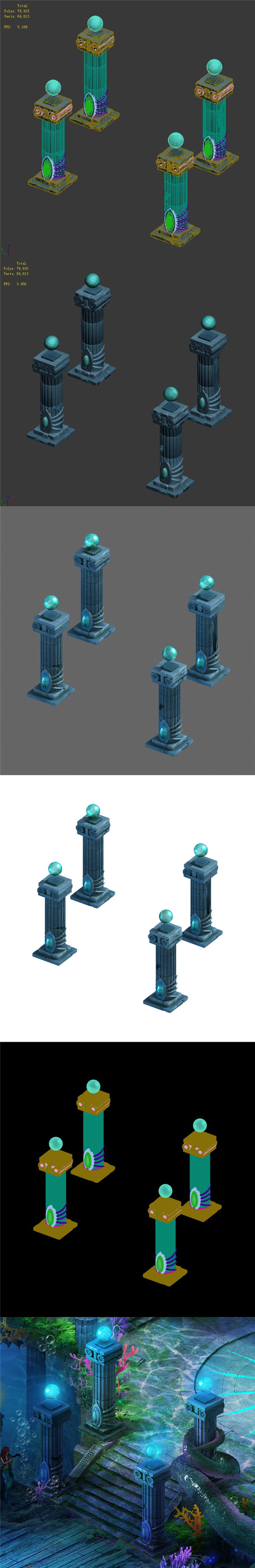 Endless sea - pillars - 3DOcean Item for Sale