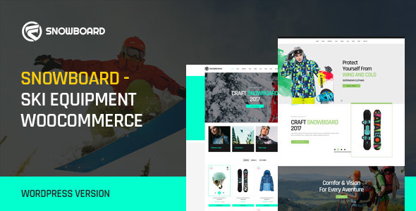 Snowboard - Ski Equipment WooCommerce WordPress Theme