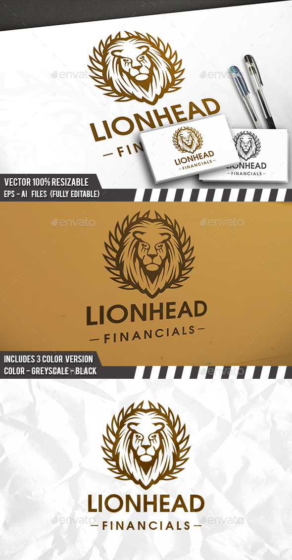 Royal Leon Head - Crests Logo Templates