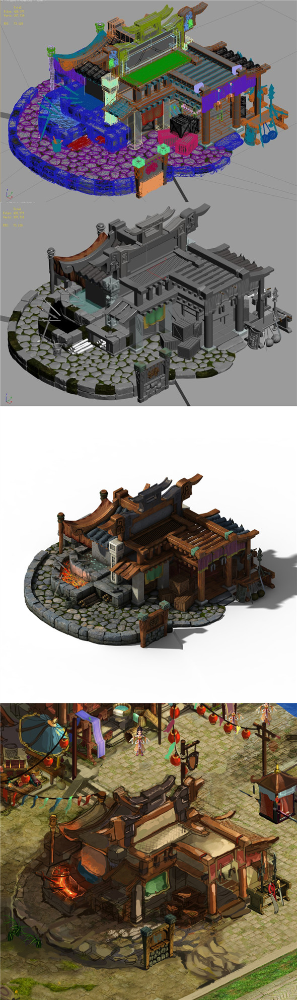 Xiangyang City - Blacksmith Shop 01 - 3DOcean Item for Sale