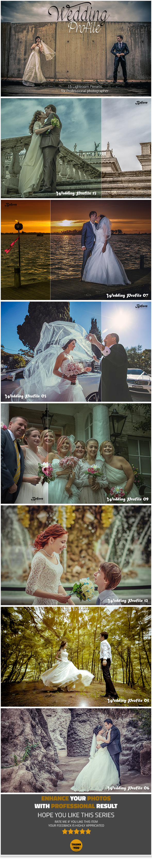14 Wedding Profile Lightroom Presets - Lightroom Presets Add-ons