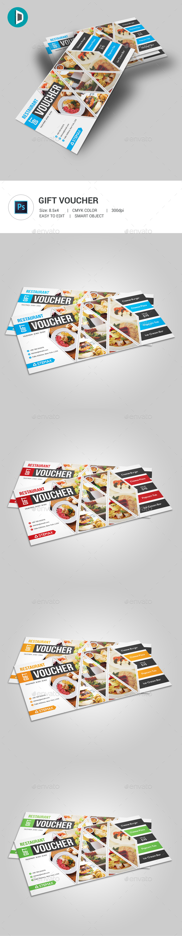 Restaurant Gift Voucher - Loyalty Cards Cards & Invites