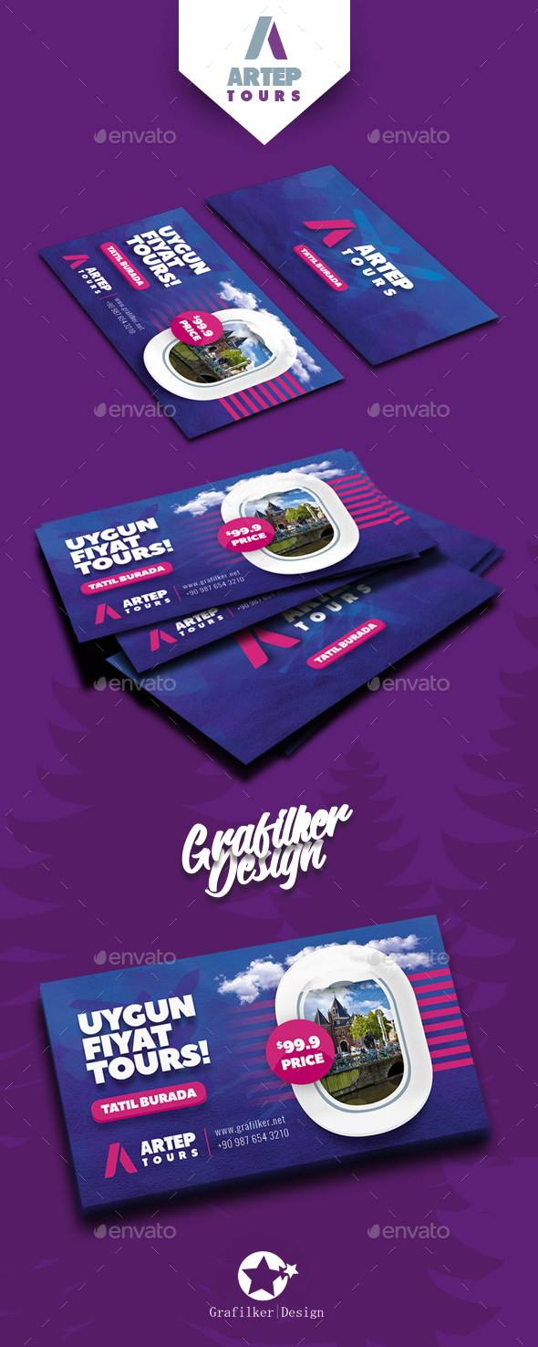Travel Tours Business Card Templates - Corporate Business Cards