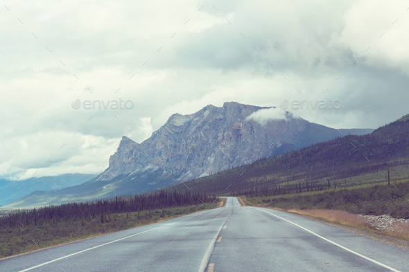Mountains in Alaska - Stock Photo - Images
