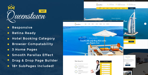 Image of QueensTown : Resort and Hotel WordPress Theme