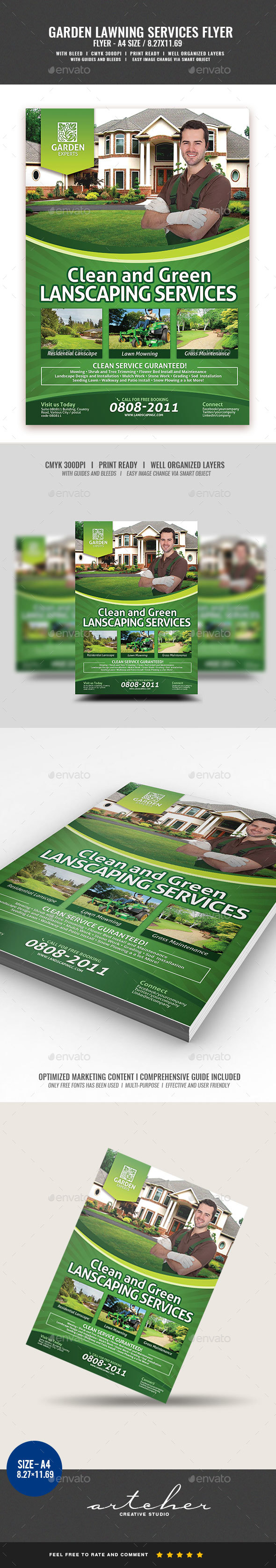 Landscape and Gardening Flyer - Corporate Flyers