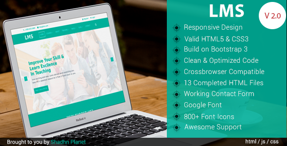 LMS Education - HTML5 Template - Business Corporate