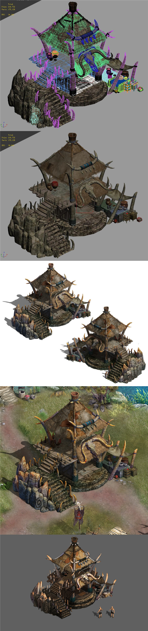 Regulus tribe - Horns House 01 - 3DOcean Item for Sale