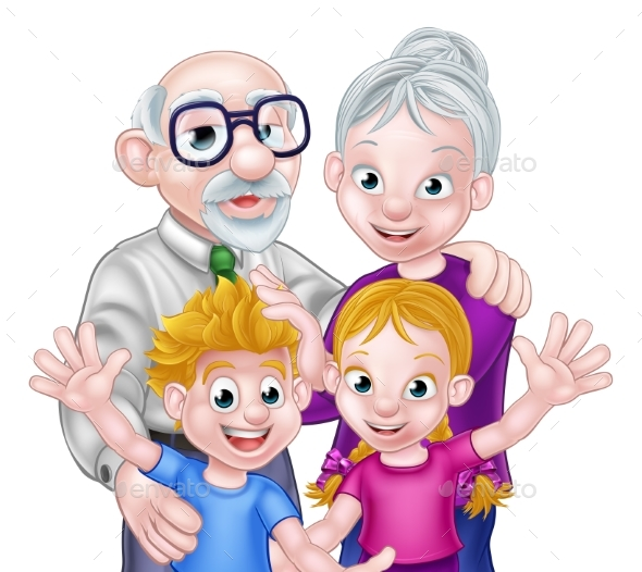 Kids and Grandparents - People Characters