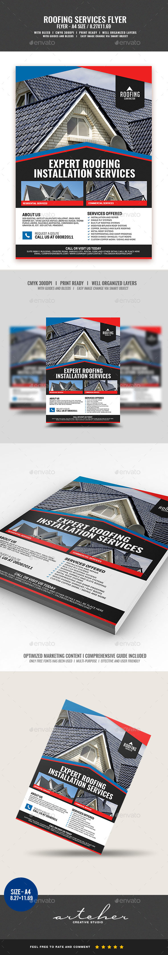 Roofing Contractor Service - Commerce Flyers