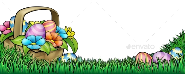 Easter Egg Hunt Background - Flowers & Plants Nature
