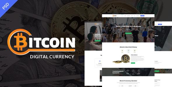 Bitcoin PSD Template - Corporate PSD Templates