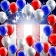 American Flag Balloons Background Design
