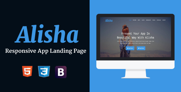 Alisha - Responsive App Landing Page