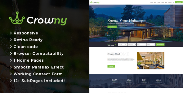 Crowny : Resort and Hotel HTML Template - Travel Retail