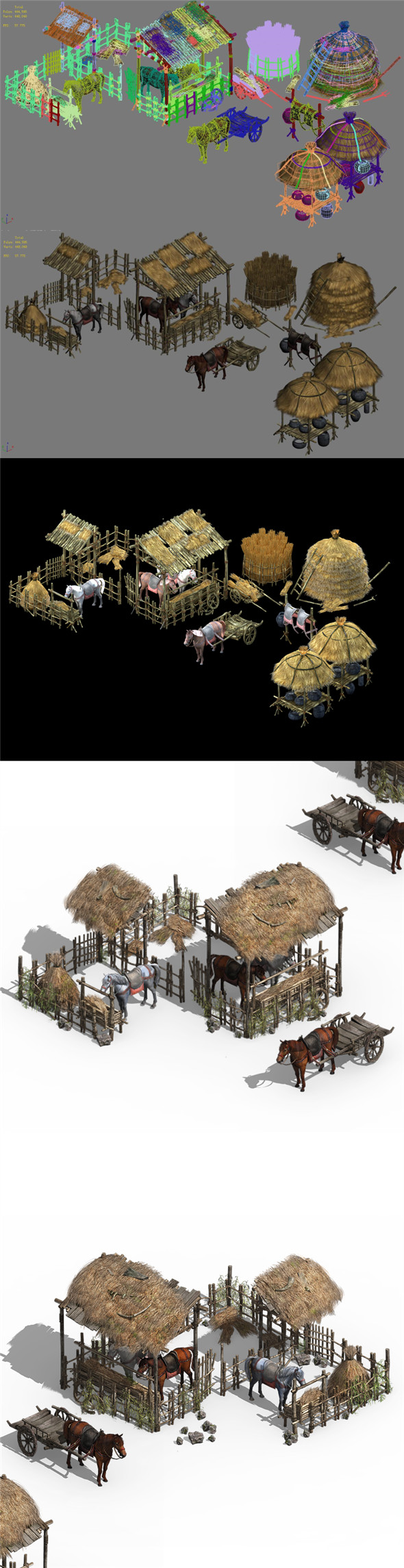 Horseback riding - Stables 04 - 3DOcean Item for Sale