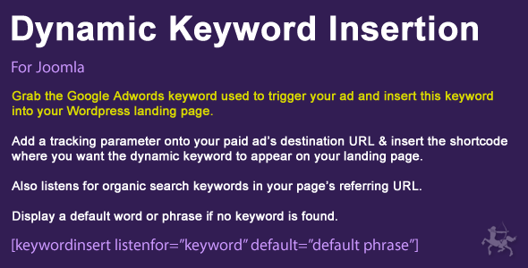 Joomla Dynamic Keyword Insertion