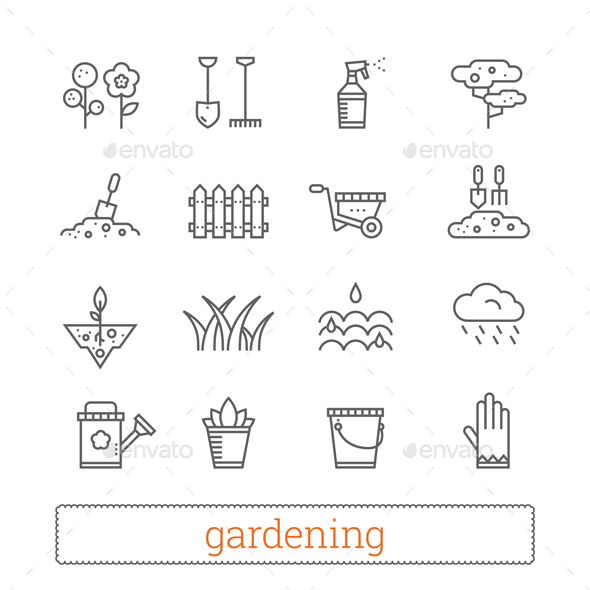 Gardening Thin Line Icons - Miscellaneous Icons