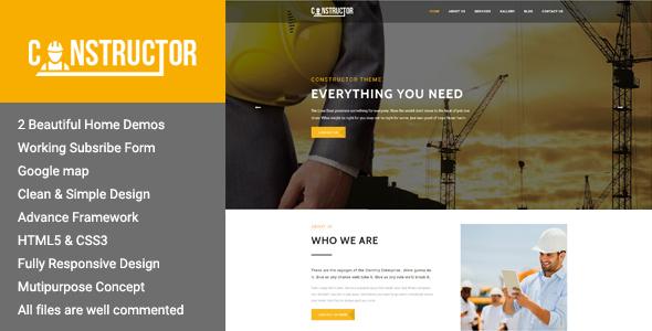Constructor - Premium Construction WordPress Theme - Corporate WordPress