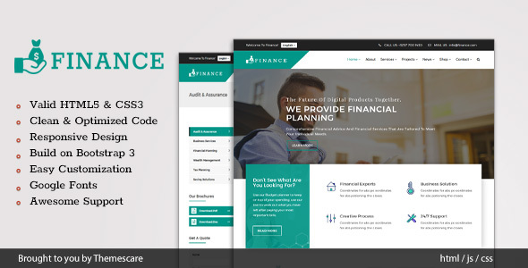 Finance - Consulting & Business HTML5 Template - Corporate Site Templates