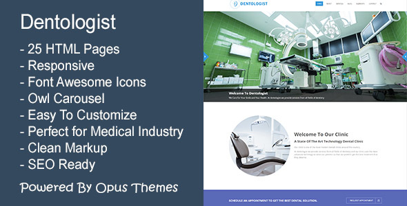 Dentologist – Responsive Template for Medical and Dental Industry
