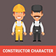 Constructor Character Builder and Repairman - GraphicRiver Item for Sale