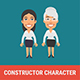 Constructor Character Businesswoman and Old Businesswoman - GraphicRiver Item for Sale