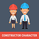 Constructor Character Engineer Woman and Engineer Man - GraphicRiver Item for Sale