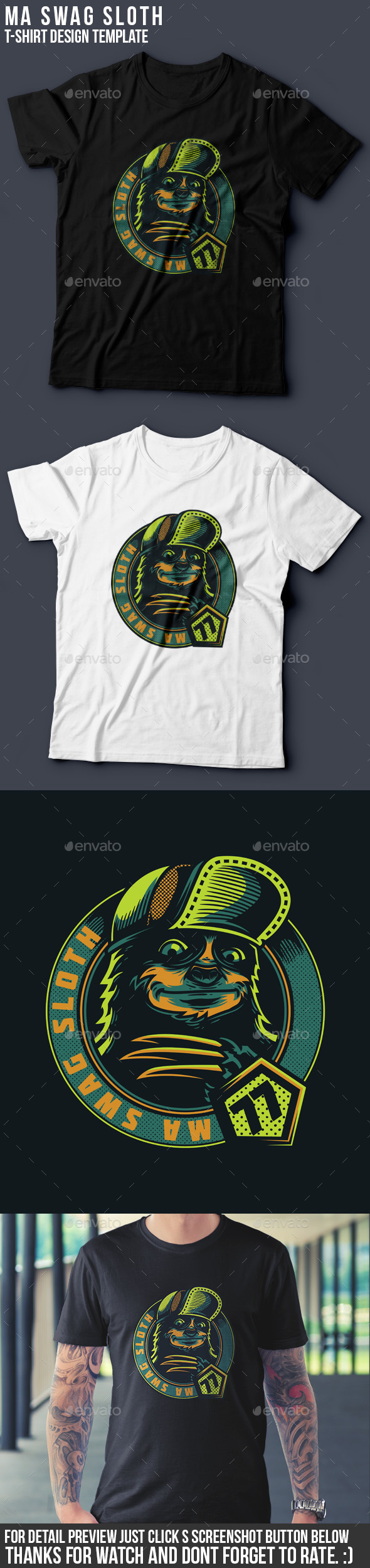Ma Swag Sloth T-Shirt Design - Funny Designs