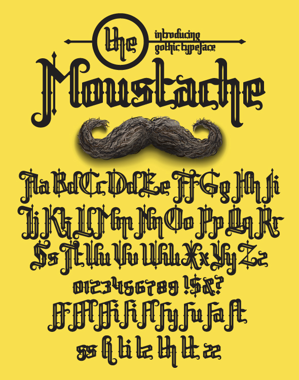 Moustache - Gothic Decorative