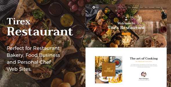 Tirex Restaurant – Theme for Restaurants and Cafes