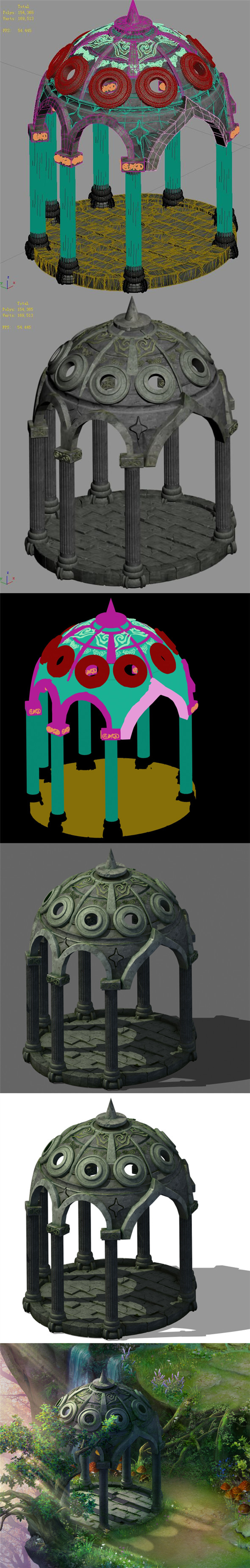 Fairy town - pavilion - 3DOcean Item for Sale