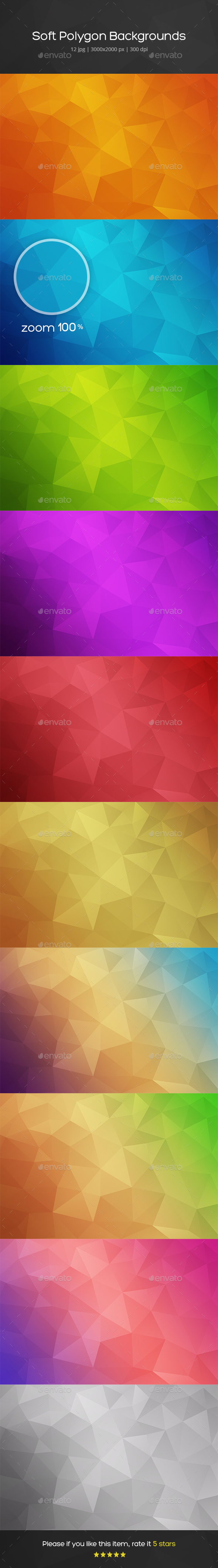 Soft Polygon Backgrounds - Backgrounds Graphics