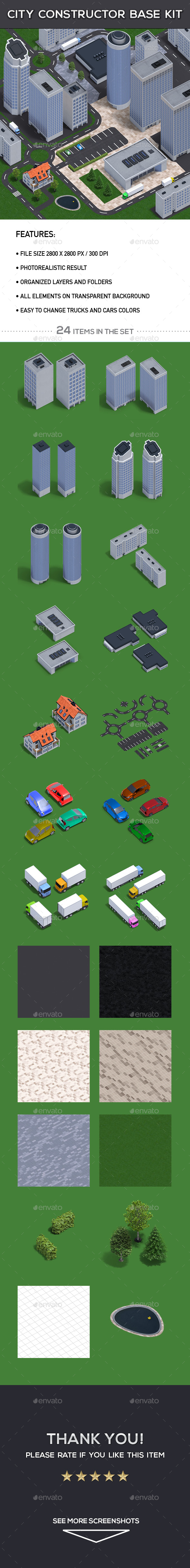 City Constructor Base Kit - Architecture 3D Renders