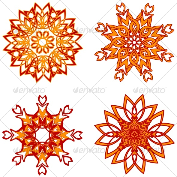 abstract flower for design - Decorative Vectors
