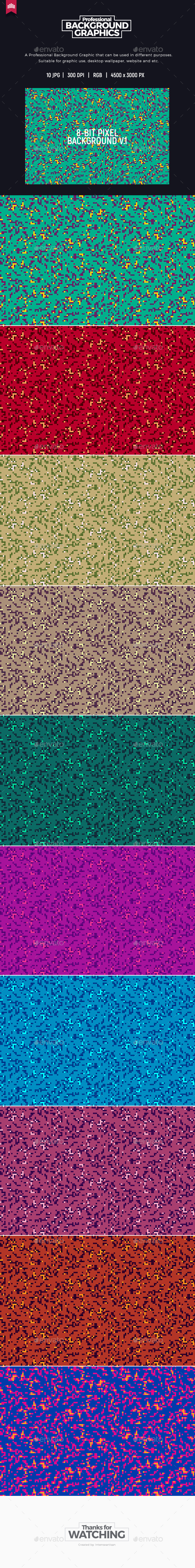 8-Bit Pixel Background V.1 - Miscellaneous Backgrounds