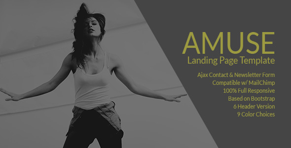 Amuse - A Multipurpose Landing Page Template
