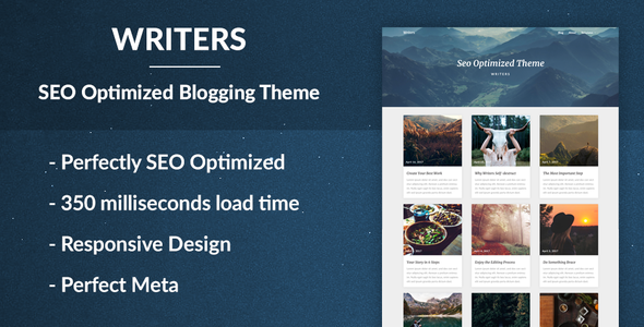 Writers - SEO Optimised Writing Theme