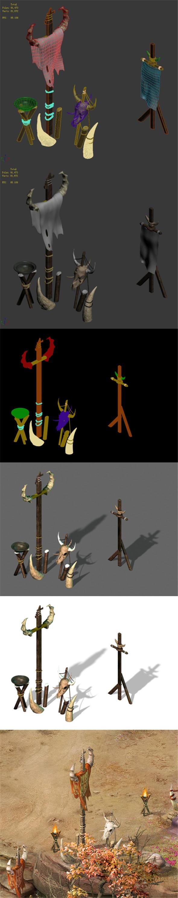 Forgotten tribe - banner - 3DOcean Item for Sale