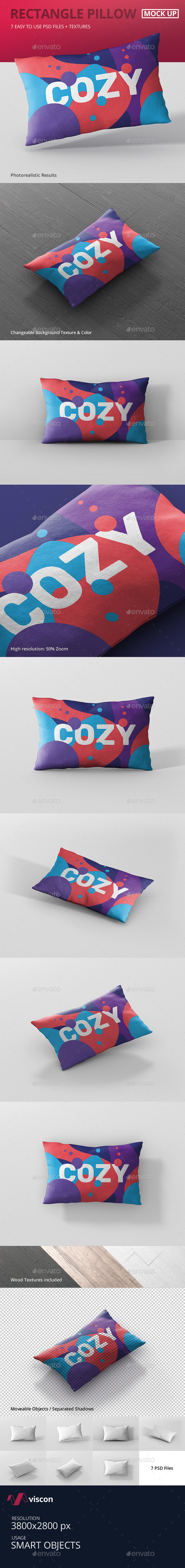 Pillow Mockup - Rectangle - Miscellaneous Product Mock-Ups