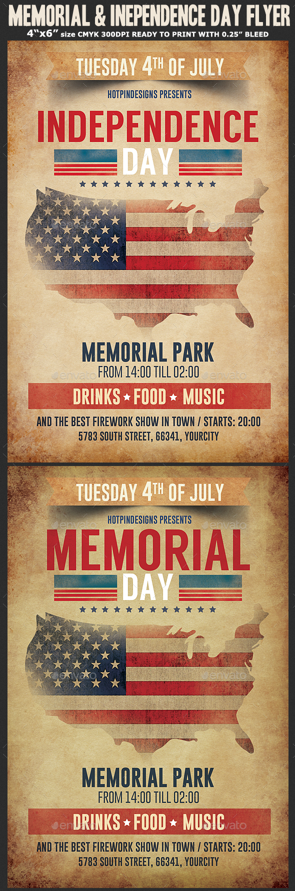 Memorial / Independence Day Flyer Template - Holidays Events