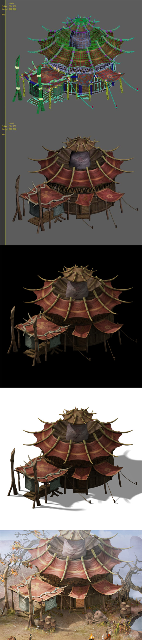 Forgotten tribe - tent 02 - 3DOcean Item for Sale
