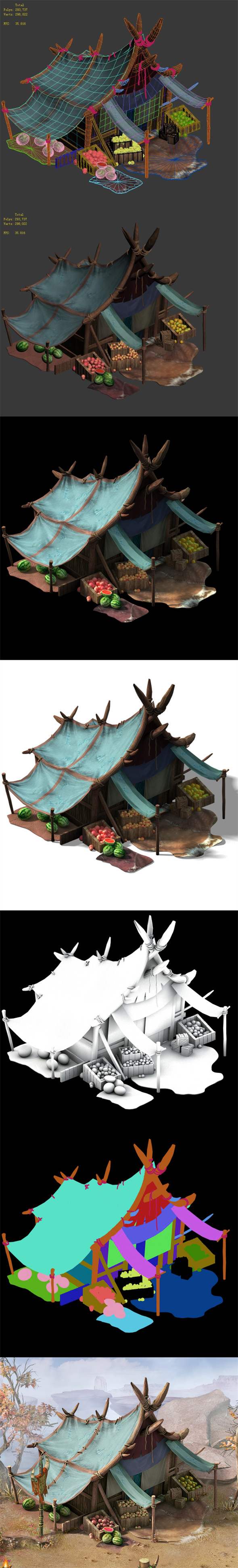 Forgotten land - fruit stand - 3DOcean Item for Sale