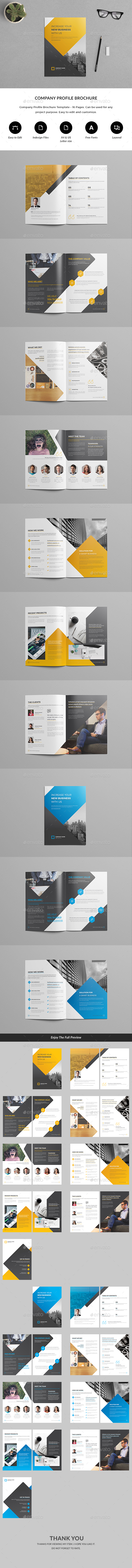 Company Profile Brochure Template - Brochures Print Templates
