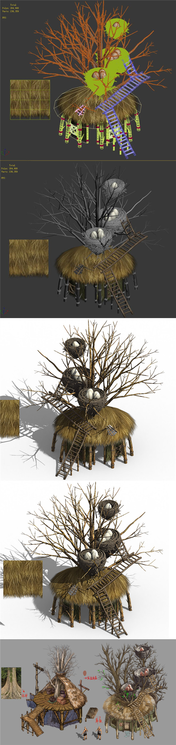 Primitive tribe - tree building 02 - 3DOcean Item for Sale