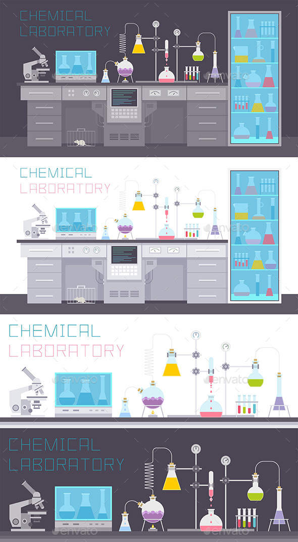 Chemical Laboratory - Vectors